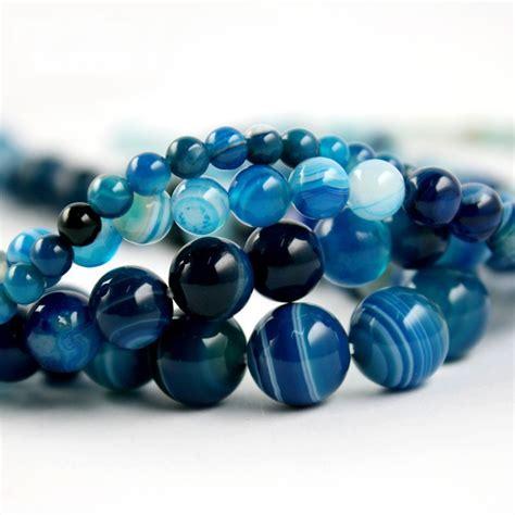 beady bead free shipping high quantity aaa blue stripe onyx agate