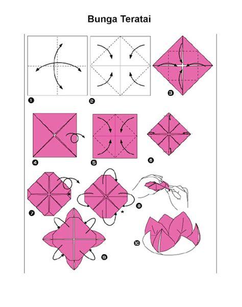 origami mawar langkah langkah membuat origami bunga teratai klub page