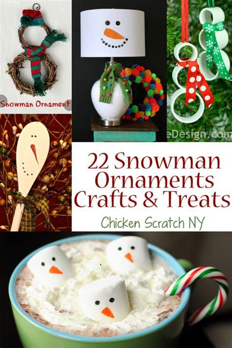 snowman ornament craft 22 snowman crafts ornaments and treats