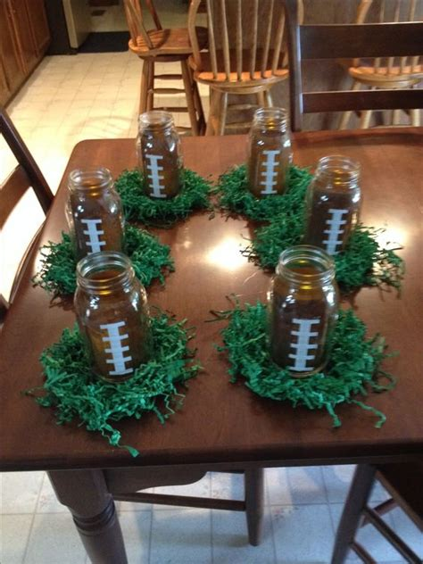 banquet centerpieces for tables could use these for football banquet or centerpieces