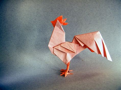 new origami 2017 new year origami rooster extravaganza