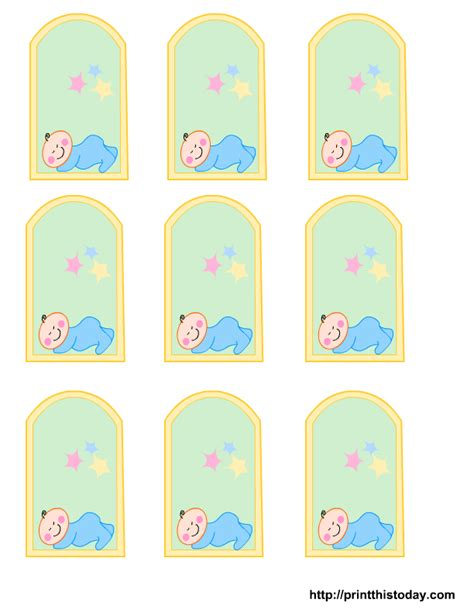 for for free printable baby boy baby shower favor tags
