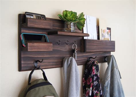 entryway shelves entryway organizer wall mounted floating shelf mail storage