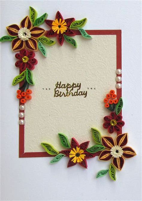 how to make paper quilling cards 17 best images about quilled birthday cards on