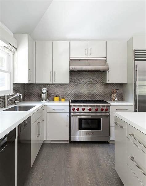 grey wood floors kitchen white kitchen with gray floor tiles design ideas