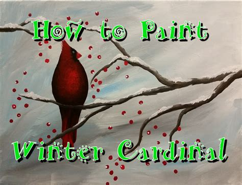 acrylic painting step by step for beginners winter cardinal step by step acrylic painting on canvas