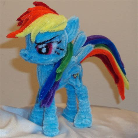 how to make a out of pony pipe cleaner rainbow dash by ponycrafter on deviantart