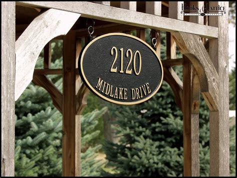 hanging address signs hanging address plaque hooks