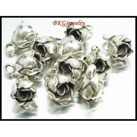 wholesale jewelry supplies charms 2x jewelry supplies hill tribe silver flower charms