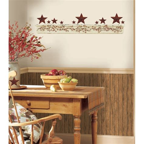 a country kitchen design for small room artistic new primitive arch wall decals country kitchen