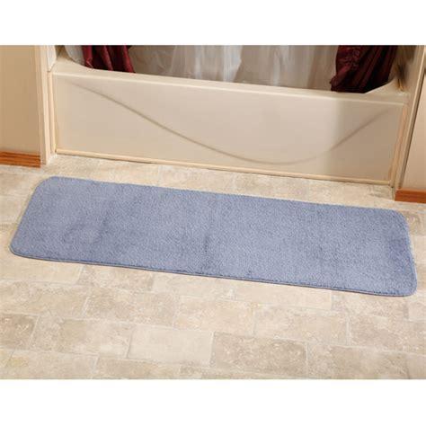 bathroom runner rugs bathroom runner rug 54 quot microfiber plush bathroom