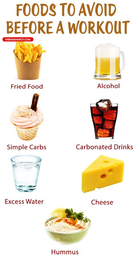 food for a foods you should avoid before a workout