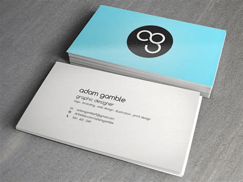 how to make a personal business card personal business cards by adam gamble dribbble