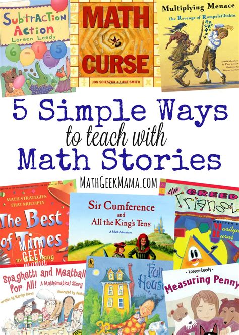 picture book story 5 simple ways to teach with math story books