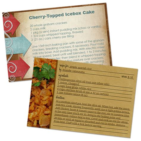 make a recipe card how to make recipe cards in photoshop home cooking memories