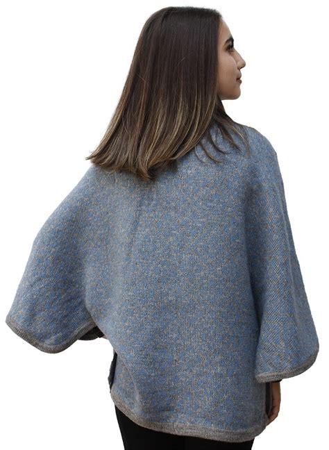 knitted cape poncho s alpaca wool knit yarn cape coat poncho ebay
