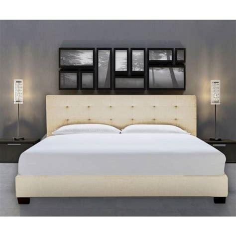 size fabric bed frames size fabric bed frame in beige white buy