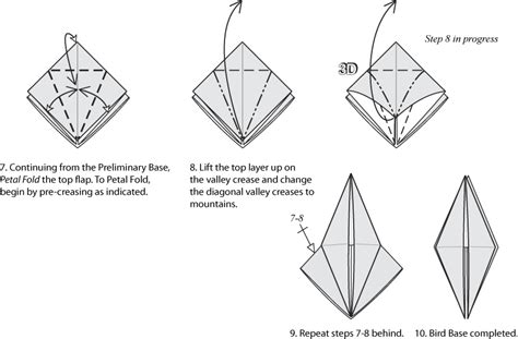 how to make a origami bird base bird base