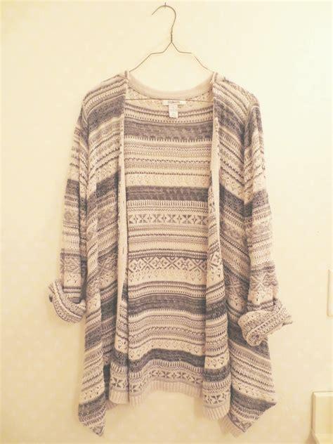 oversized knit cardigan oversized tribal knit cardigan on storenvy