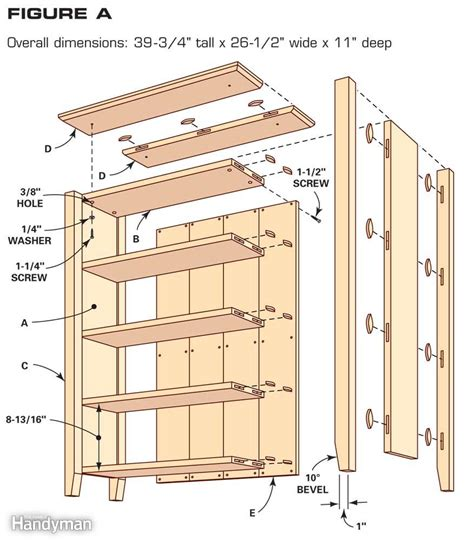 woodworking plans bookcase simple bookcase plans the family handyman