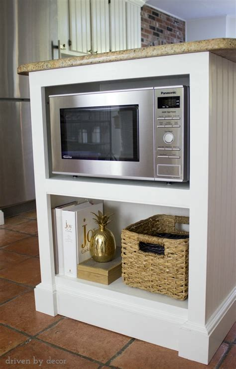 kitchen cabinet microwave shelf our remodeled kitchen island with built in microwave shelf