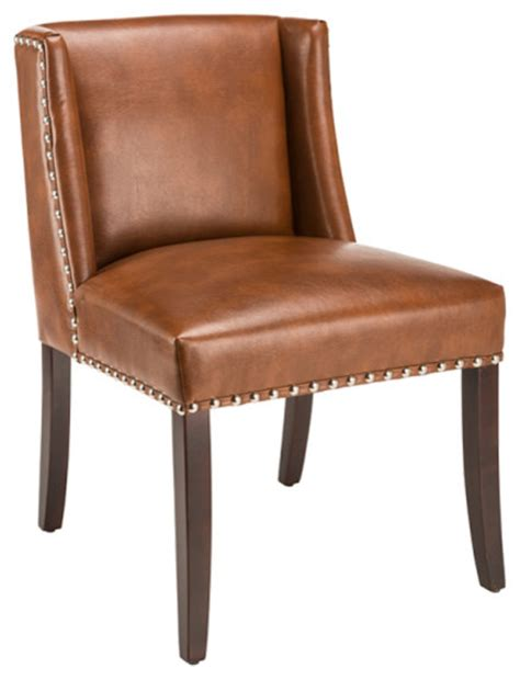 wing dining chairs paulsson leather wing dining chair saddle dining chairs