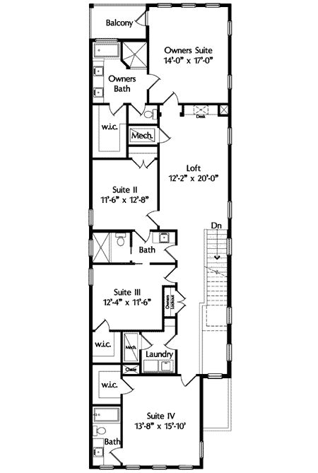 floor plans for narrow lots narrow lot mediterranean house plan 42823mj architectural designs house plans