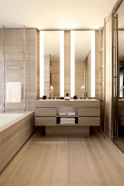 modern bathroom lighting 45 stylish and cozy wooden bathroom designs digsdigs