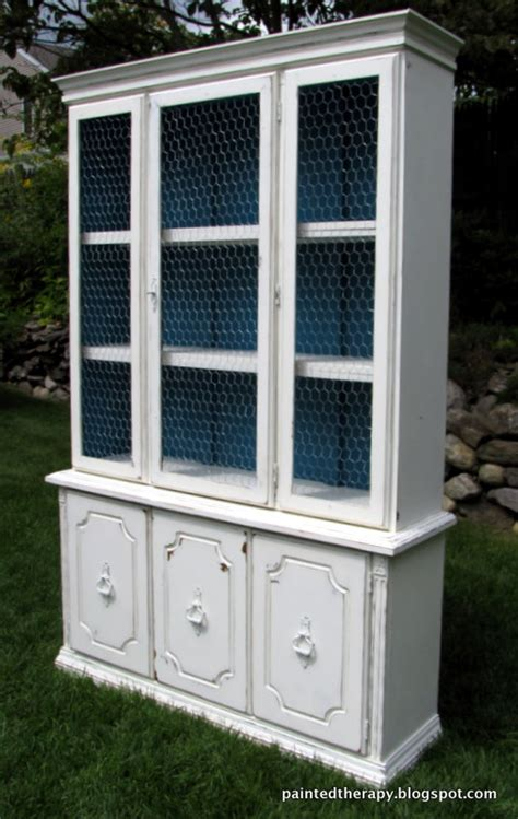 chalk paint nashua nh hometalk updating an hutch with paint and chicken wire