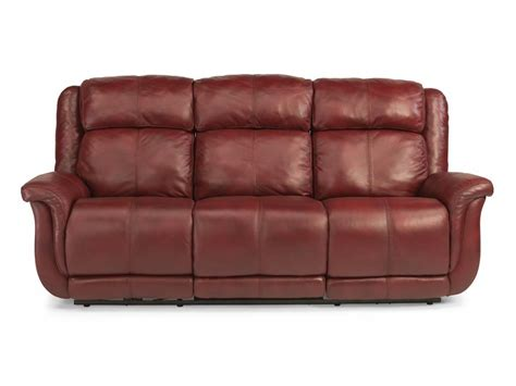 flexsteel leather sofas flexsteel living room leather or fabric power reclining sofa 1251 62p sofas unlimited