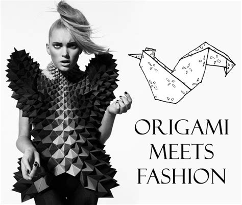 origami in fashion origami a three way perspective