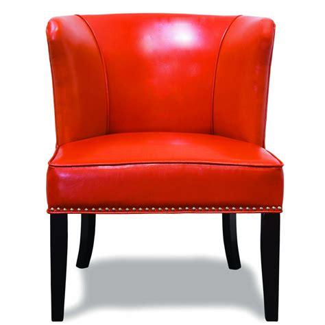 orange living room chair 582 orange faux leather contemporary living room 2 pcs