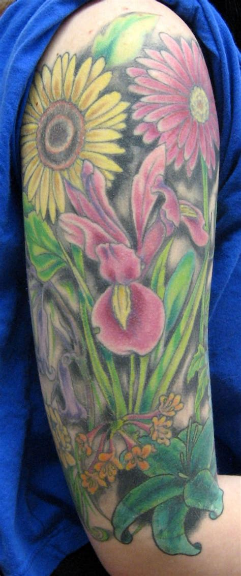 flower garden tattoos flower garden ink that appeals