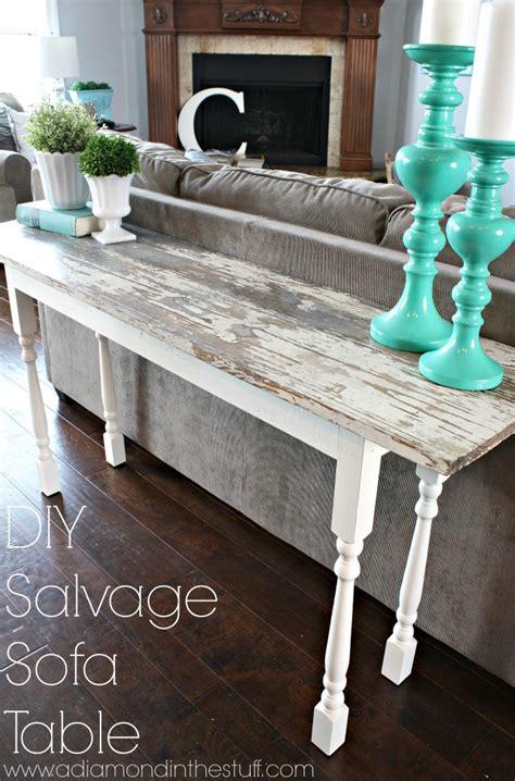 how to build a sofa table diy salvage sofa table