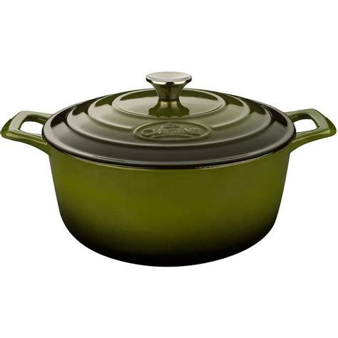 shop la cuisine 3 7 quart cast iron oven with lid at lowes