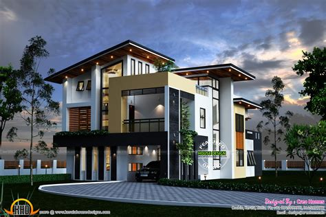 contemporary home plans and designs kerala contemporary house kerala home design and floor plans