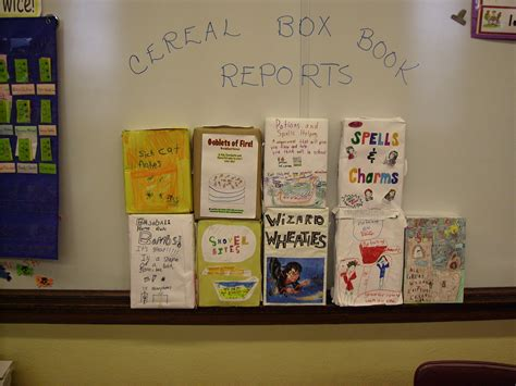 cereal box book report pictures march book report projects mrs eller s 4th grade shining
