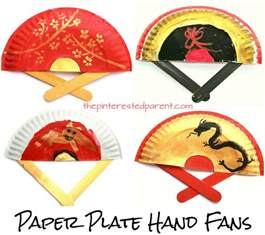 Painted Paper Plate Fans Great For New Year