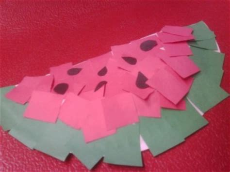 summer construction paper crafts wacky paper watermelons family crafts