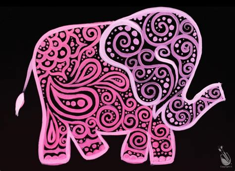 paint with a twist elephant paisley elephant your color wednesday august 10