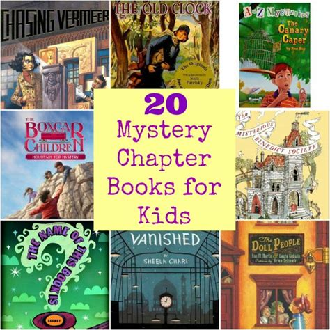 mystery picture books for 20 mystery chapter books for