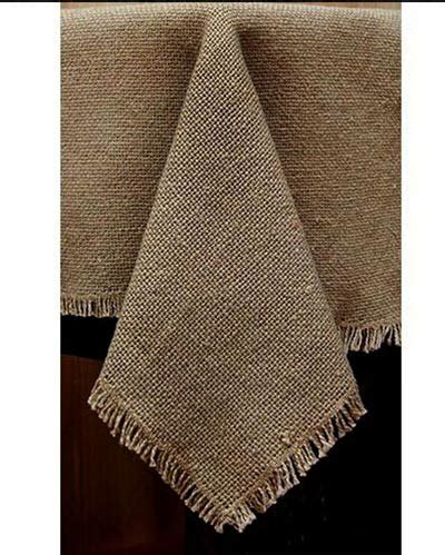 burlap table toppers deluxe burlap table topper by s heartland the