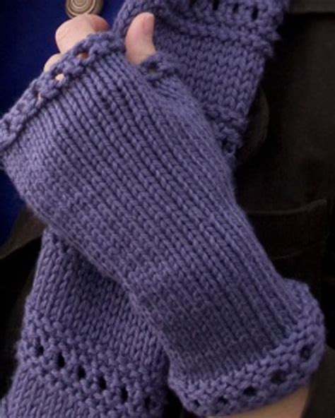 fingerless gloves knitting pattern wrist warmers knitting and crochet patterns on
