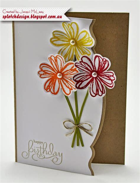 flowers for cards splotch design independent stin up demonstrator