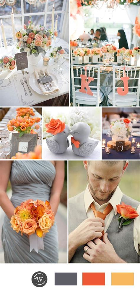 orange color theme best 25 orange grey wedding ideas on autumn