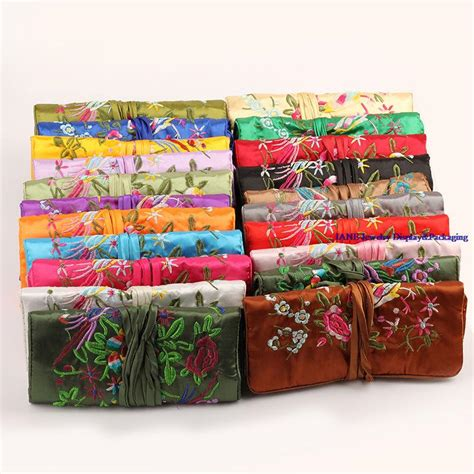 how to make a jewelry roll bag wholesale luxury brand max colors large satin jewelry roll