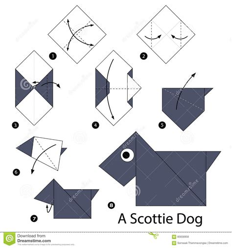 how to make origami dogs step by step how to make origami a scottie