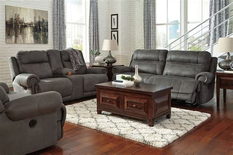 grey living room furniture set austere gray reclining living room set from