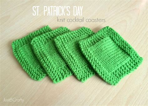 knitted coaster pattern free st s day knit cocktail coasters knitting