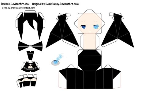 paper crafts anime chibi papercraft and on
